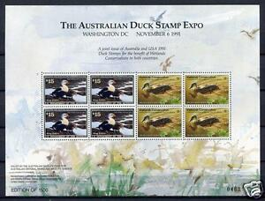 40285) AUSTRALIA - USA 1991 Joint issue Australia/USA S/S - ONLY 1500 ISSUED