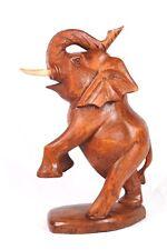 Wunderschöner Elefant Glücks stehender Elephant Holz Afrika Tier Deko