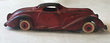 """Rare, Vintage, Red Hubley Cast Iron Lincoln Zephyr, 6"""""""