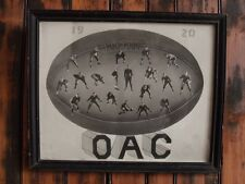>Antique/RARE 1920 OAC Oregon State MELON FOOTBALL COMPOSITE PHOTO in Old Frame