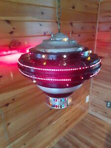 Antique VTG 1950s-60s U.F.O HUGE! Swag Light/Lamp Atomic Space Folk Art, Area 51