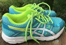 Yth Girls Sz 3.5 US 22.5 EUR AsicGel-Contend 4 Lace-Up Shoes/Sneakers Aqua Lime