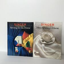 Singer Sewing for the Home and More Sewing for the Home 2 Vintage Paperbacks