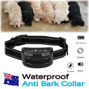 Auto Anti Bark Dog Collar Rechargeable Stop Barking Non-Shock Humane Waterproof