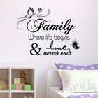 Pvc Family Home Quote Wall Stickers Art Room Removable Decals Diy Decoration Uk