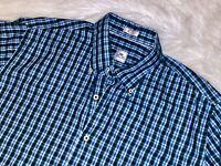 Peter Millar button down large plaid shirt long sleeve