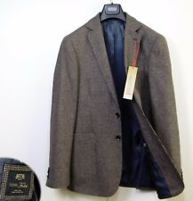 M&s COLLEZIONE Italian Wool Rich Regular Fit Blazer Size 42 Long Brown Check