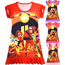 The Incredibles 2 Kids Girls Cosplay Costume Party Summer Dress T-shirts Skirt