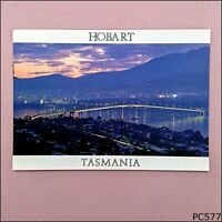 Hobart Tasmania Tasman Bridge at Night 1998 Postcard (P577)