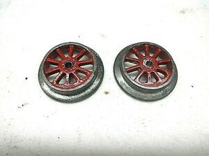 """Ives 1-7/16"""" Dia.10 Spoke Drive Wheels for Prewar O Gauge Locomotives,Cast metal"""