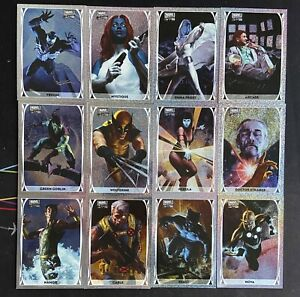 LOT(12)2020 UD Marvel Masterpieces Limited Edition Holofoil #3-4 #6-12 #14 16 18