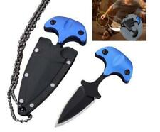 Mini EDC Double Edge Dagger Survival Fixed Blade Neck Knife Drop Point Blade New