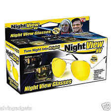 Night View Nv Anti Glare 100% UVA & UVB Protection Aviator Frame Glasses