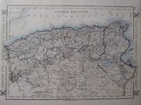 1912 Landkarte ~ Algerien Und Tunis Constantine Oran