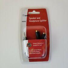 Belkin Speaker and Headphone 3.5 mm AUX Audio Cable Splitter Black Standard