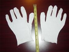 48 Pair White Lisle Cotton Inspection Gloves - Men's XL - 100% Cotton, NEW!