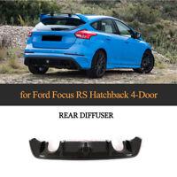 Carbon Diffusor Heckansatz Heckeinsatz Spoiler für Ford Focus 16-18 Heckdiffusor