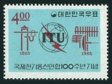 Korea South 472,472a,MNH.Michel 483,Bl.207. ITU-100,1965.Communication Equipment