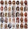 studio7-uk Blonde Auburn Wavy Curly Straight Medium Length Synthetic Full Wig
