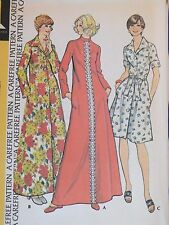 VTG 74 McCALLS 4303 MS/Wmns Collar Variation Robe in 2 lengths PATTERN 20/42B UC