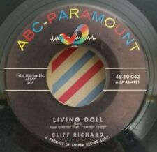Cliff Richard ABC-Paramount 10,042 LIVING DOLL (GREAT ROCKABILLY 45)PLAYS GREAT!
