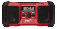 Milwaukee DAB+ M18 DIGITAL JOBSITE RADIO 18V Dual Speakers,2.1A USB Power Outlet