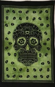 Skull Design Cotton Tapestry Beautiful Home Decor Wall Hanging Small Poster Art