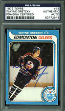 Oilers Wayne Gretzky Authentic Signed 1979 Topps #18 Rookie Card PSA/DNA Slabbed