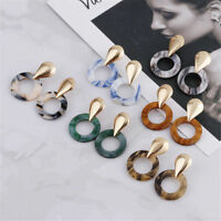 Geometric Boho Statement Bib Drop Dangle Ear Stud Earrings Women Charm Jewelry
