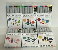 Copic Sketch 6-Piece Marker Set Dual-Tipped, Refillable *Variation* NEW!