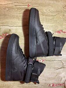 womens nike sf air force 1 high Black/black 8W