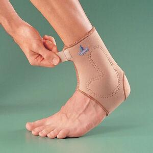 OPPO 1409 Silicone Padded ANKLE SUPPORT Neoprene Brace Sprain Sock Arthritis NHS