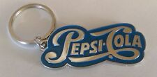 PEPSI-COLA Key Chain - Silver Embossed with Blue -  *NEW