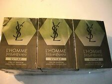 YSL L'homme Ultime Lot of 12 Vials  eau de toilette spray on a Card