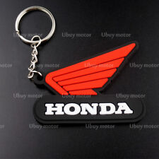 Red Motorcycle 3D Rubber Keyring Keychain Key Chain Key Ring For HONDA Cool Gift