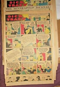 1935 -20 WEEKS DICK TRACY XL FULL PAGE COLORED SUNDAY NEWSPAPER COMIC STRIPS