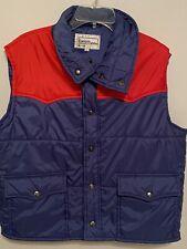 New listing Vtg 70s 80s Nylon Ski Vest Mens Xl 2-tone Trucker Blue Red Vintage