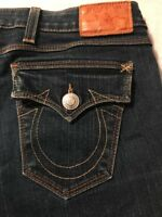 True Religion Women's Jeans Billy Straight Leg Stretch Distressed Size 27 X 33