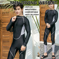 Men Stretch Full Body Wetsuit Anti-UV Surf Swim Surfing Diving Steamer Wetsuit