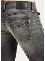 True Religion Men's Geno Distressed Slim Fit Stretch Jeans w/ Rips