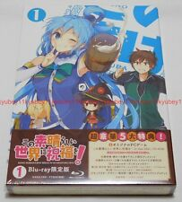 New KonoSuba Vol.1 First Limited Edition Blu-ray PC Game Novel Booklet Japan F/S