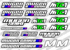 MUGEN SEIKI MTC1 ELECTRIC 1/10 RC CAR STICKER DECAL SET BRUSHLESS R/C EP MOTOR