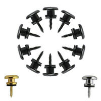 10pcs Mushroom Head Strap Lock Button End Pins for Acoustic Electric Guitar Bass