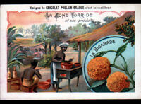 IMAGE CHROMO CHOCOLAT POULAIN / JAMAIQUE / Fabrication LIQUEUR CURACAO ,BIGARADE