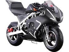 MotoTec Cali 40cc Gas Pocket Bike White 4-Stroke EPA Approved Chain Drive 13 +