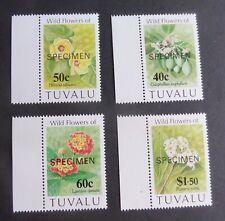 Tuvalu 1993 flowers SG664/7 SPECIMEN MNH UM unmounted mint