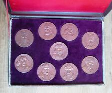 9 Polsh King Sobieski Mieszko Chrobry Jagiello Other Boxed Medals, lot