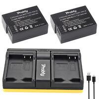 2x DMW-BLC12 battery + USB Charger for Panasonic Lumix DMC-G5 G6 G7 G85 GX8 GH2