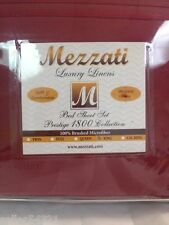 Mezzati Luxury Linens Twin Bed Sheets in Red