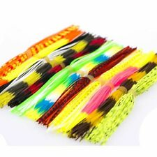 Silicone Fishing Skirts Mixed Color For Spinnerbait Buzzbait Rubber Jig Fly 12pc
